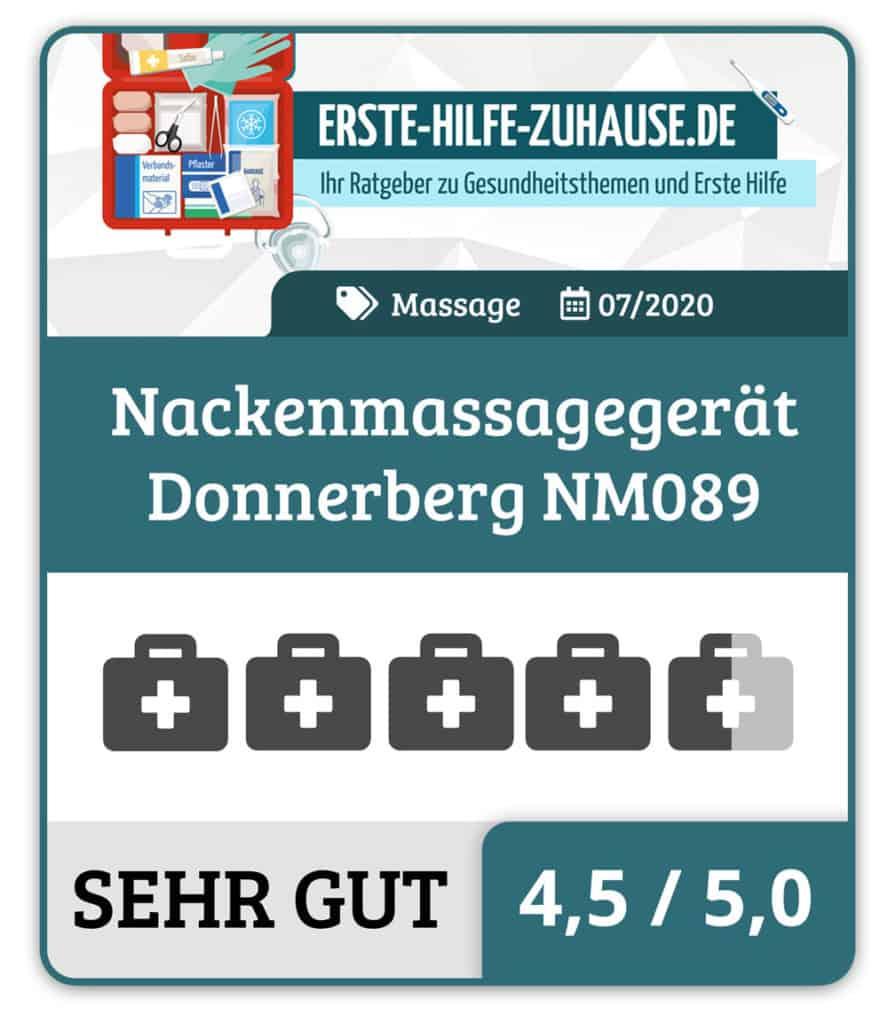 Donnerberg: Das Shiatsu Massagegerät Premium NM089 im Test