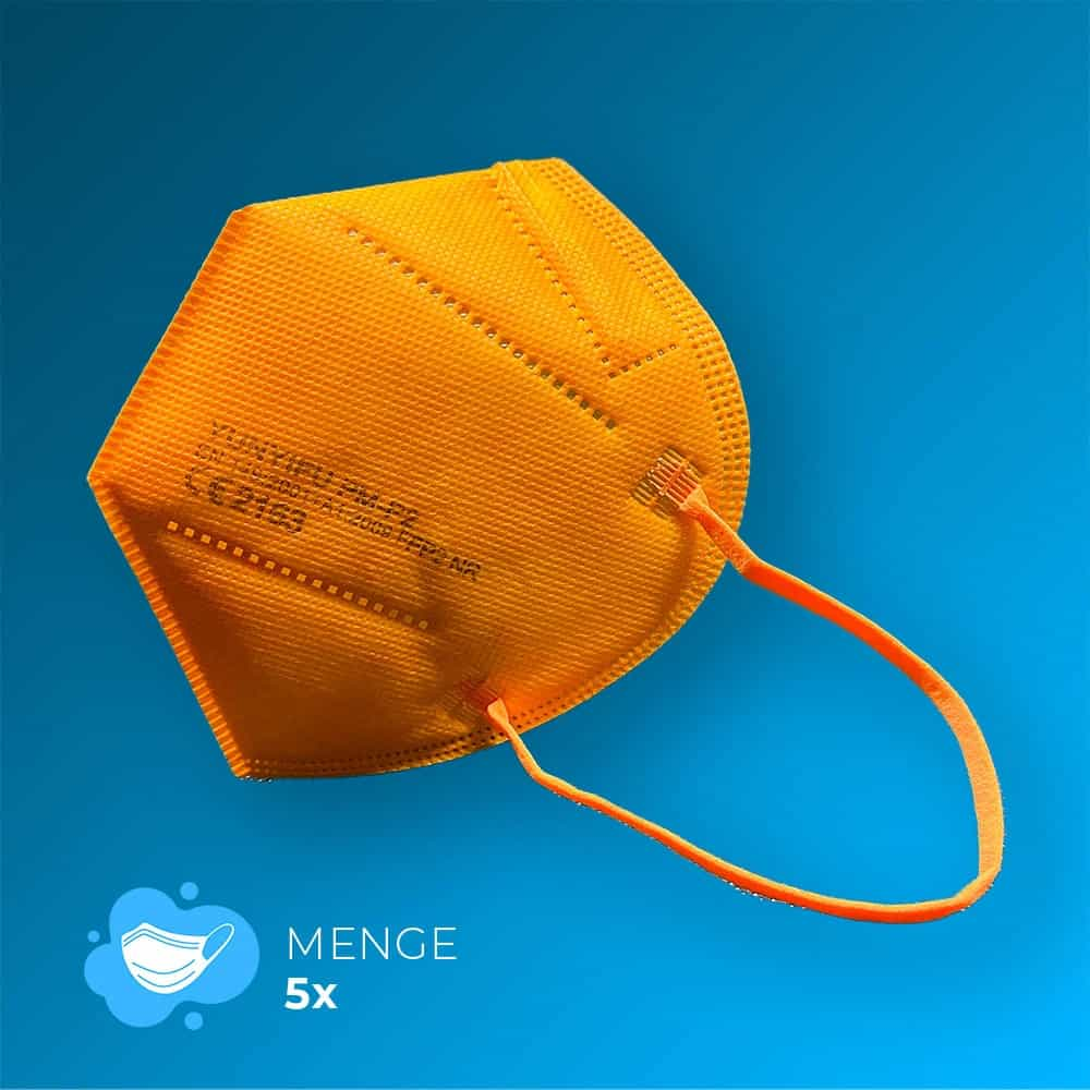 orange FFP2-Maske
